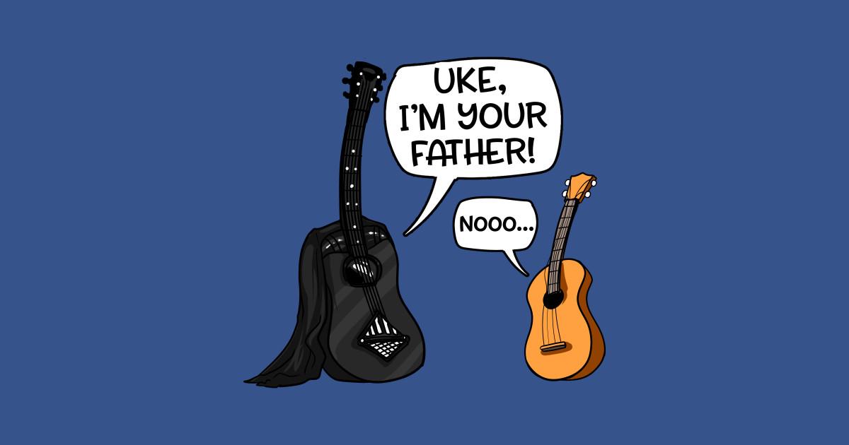0d67c820e Uke I Am Your Father Funny Guitar And Ukulele Pun Joke - I Am Your Father -  Baseball T-Shirt | TeePublic