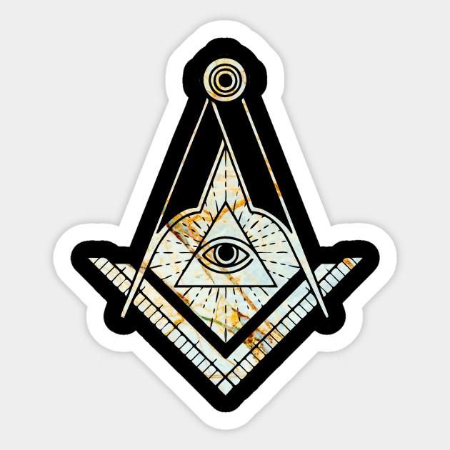 Marble All Seeing Eye Masonic Symbol All Seeing Eye Sticker