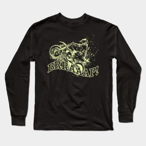 3ba05752 Dirt Bike Racing Shirt| Motorcycle Racing T Shirts| Braap Shirt Long Sleeve  T-Shirt