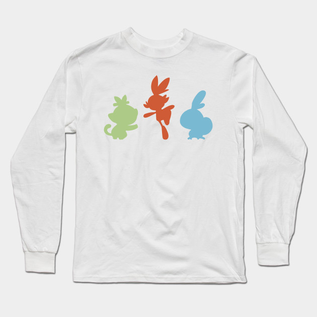 6a5be597 Choose your starter! - Pokemon - Long Sleeve T-Shirt | TeePublic