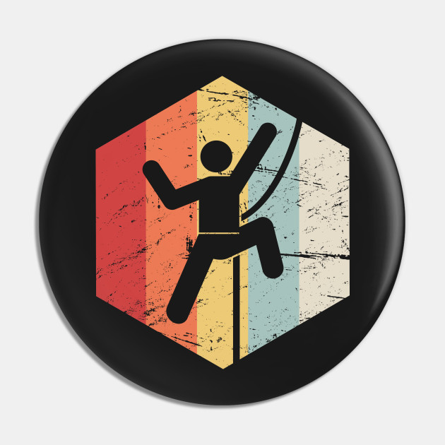 Retro Rock Climbing Icon