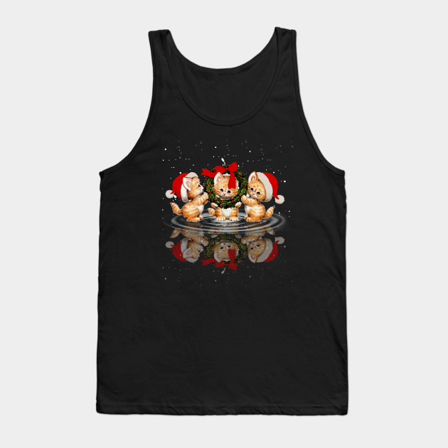 Merry Christmas Cat Love Christmas Tank Top