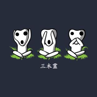 Three wise Kodama t-shirts
