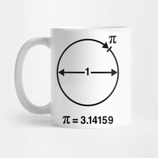 Pi / ∏ / π / Mathematics / Geometry (UK & USA / Black) - Mathematics - Mug | TeePublic