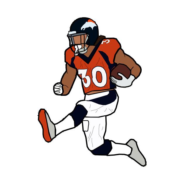 Phillip Lindsay Hurdle Touchdown Celebration - Denver Broncos