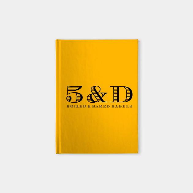 5 & Dime logo black