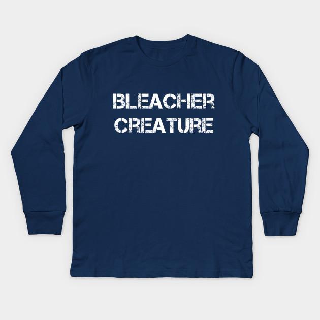 dd036890 Bleacher Creature Baseball Vintage Distressed Cool Sports Graphic Design  Kids Long Sleeve T-Shirt