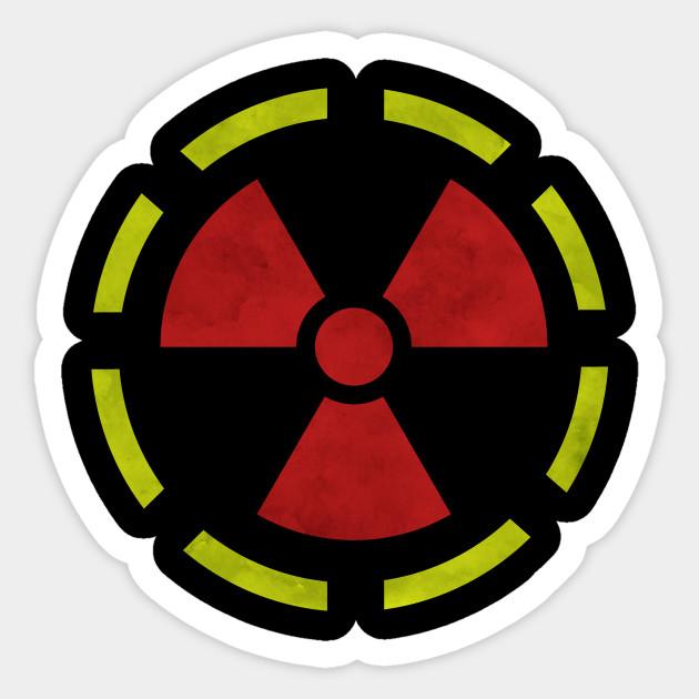Radioactive Hazard Symbol Nuke Sticker Teepublic