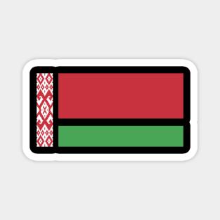 Thin Bordered Belarus Flag Magnet