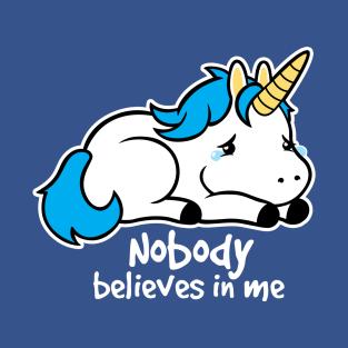 Sad unicorn t-shirts