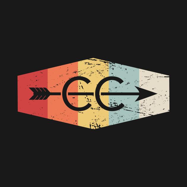 Retro Vintage Cross Country Logo