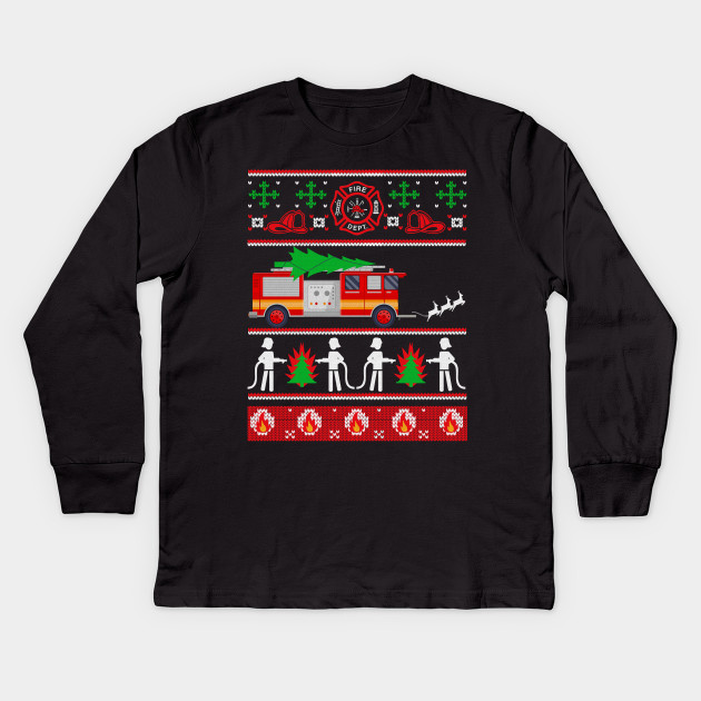 Firefighter Christmas Shirt.Firefighter Ugly Christmas Sweater T Shirt