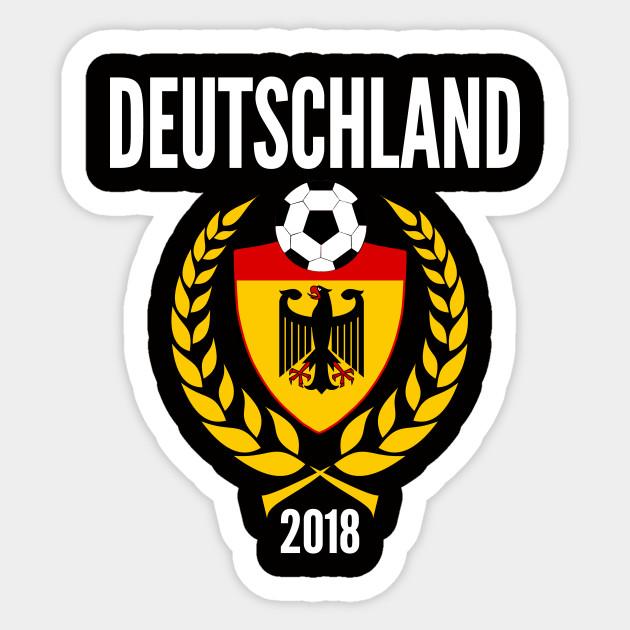 Germany Soccer Jersey World Emblem 2018 Football Cup Fussball Design for Deutschland  Soccer and Mannschaft fans. Sticker 8d2fe158d