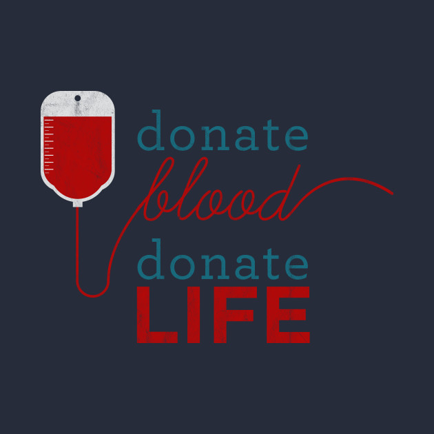 Donate blood - donor badge - blood donation