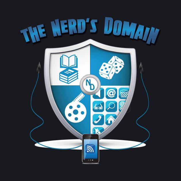 Nerd's Domain Shield with Wordmark
