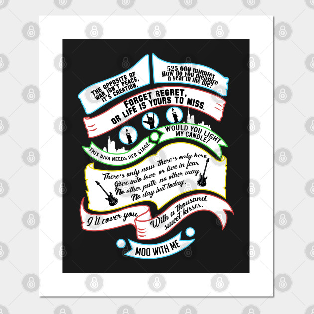 Rent Musical Best Quotes Rent Musical Posters And Art Prints Teepublic Uk