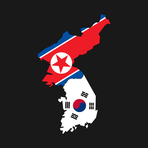 Limited Edition Exclusive North South Korea Flag Map No Jeju