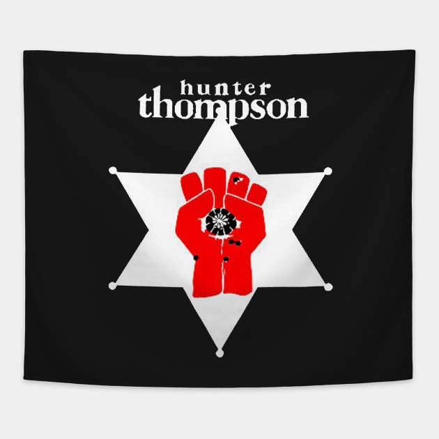 Hunter S Thompson Hunter Thompson Tapestry Teepublic
