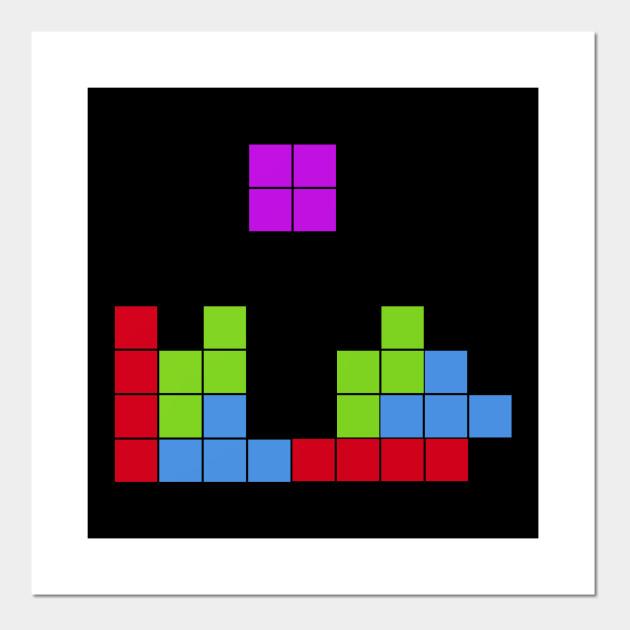 Cuscini Tetris.Tetris Game Pixel Art Games Poster E Stampa Artistica