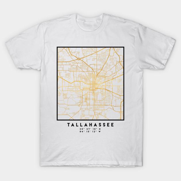 Tallahassee Florida Map.Tallahassee Florida City Street Map Art Tallahassee T Shirt