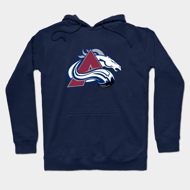 on sale 81dd9 075cd Colorado Broncos - Denver Avalanche Logo Mashup