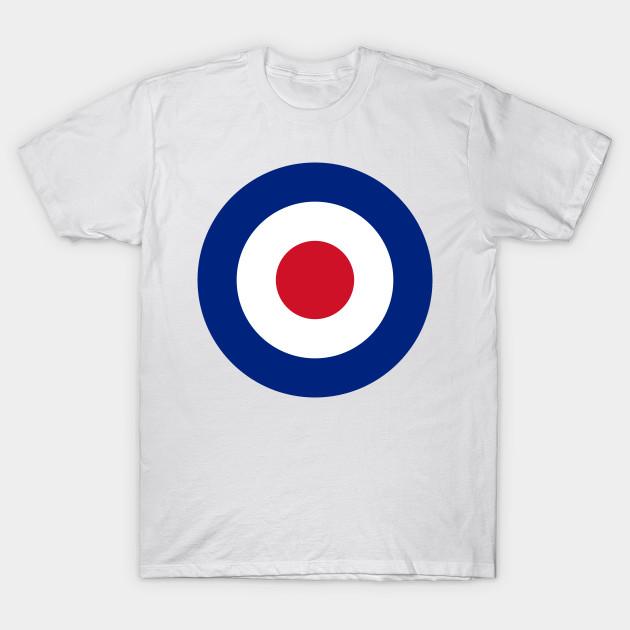 online store ab337 bd712 BRITISH MOD ROUNDEL RAF SHIRT DESIGN LOGO! by frenkmelk