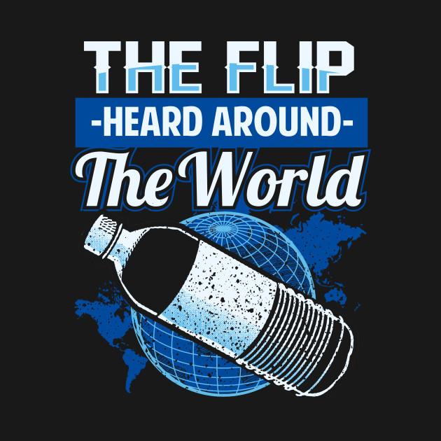 Water Bottle Flip Challenge School Trend Around World Shirt