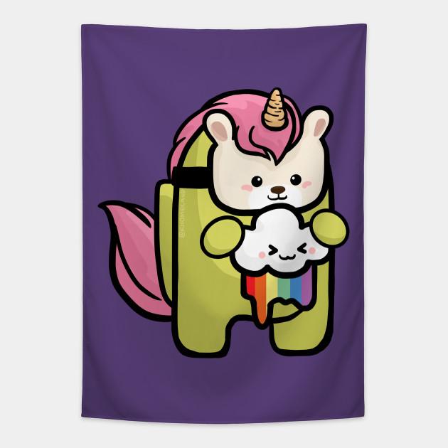 Among Us Unicorn Among Us Game Merchandise Tapestry Teepublic