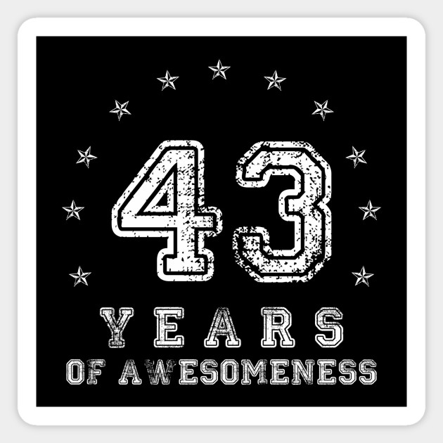 Vintage 43 years of awesomeness