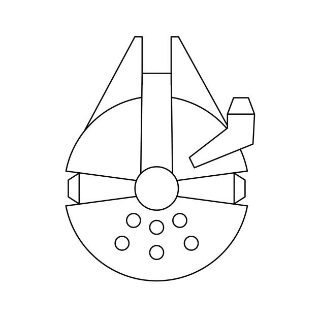 Millenium Falcon Outline Star wars: millennium falcon - simple graphic ...