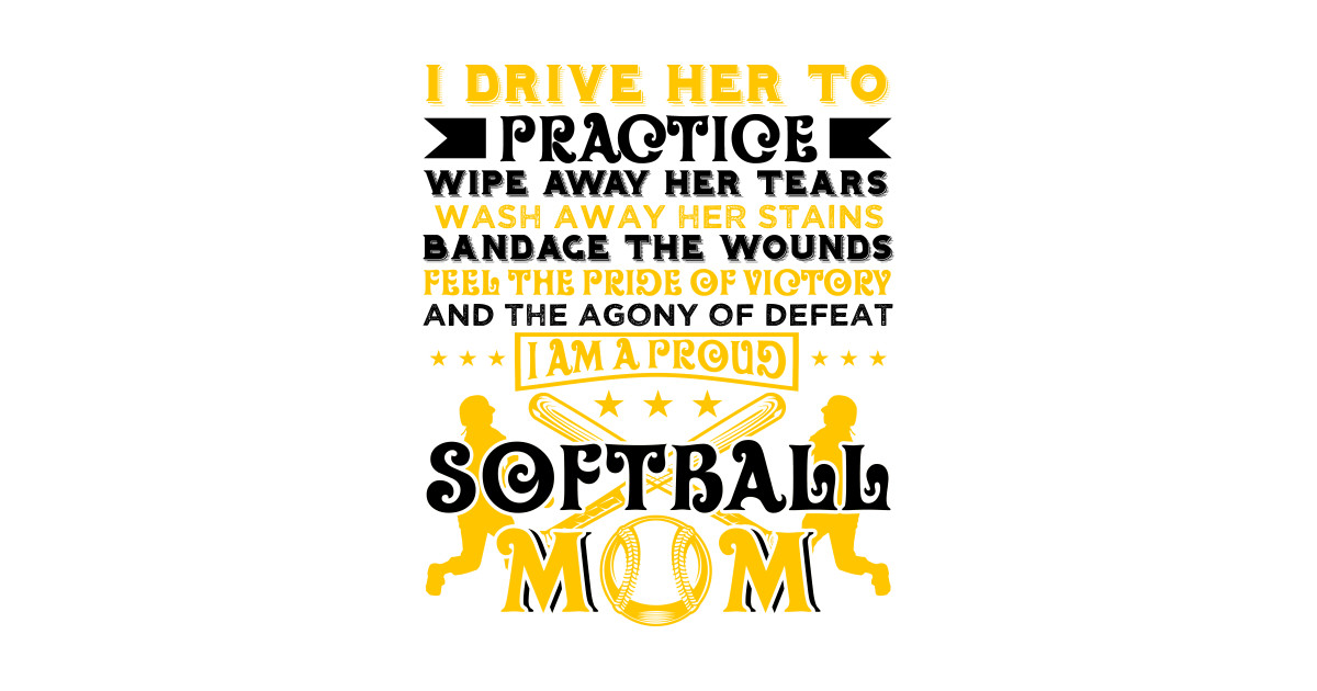 Softball Player Coach Fan Funny Quotes