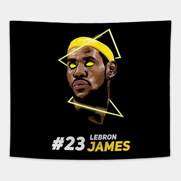 e970651ecc7 Lebron James - King James - Tapestry   TeePublic