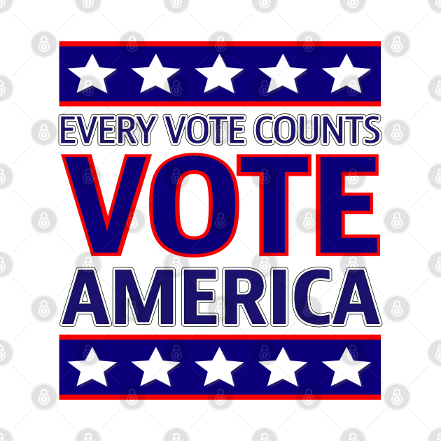 Every Vote Counts America Flag Colors, TPSD
