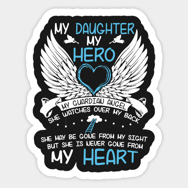 My Daughter My Hero Daughter Sticker Teepublic
