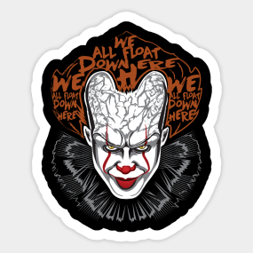 Pennywise Horror Stickers | TeePublic