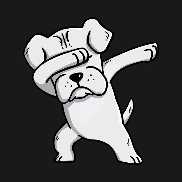 White Boxer Dabbing Boxer Dog T Shirt Teepublic