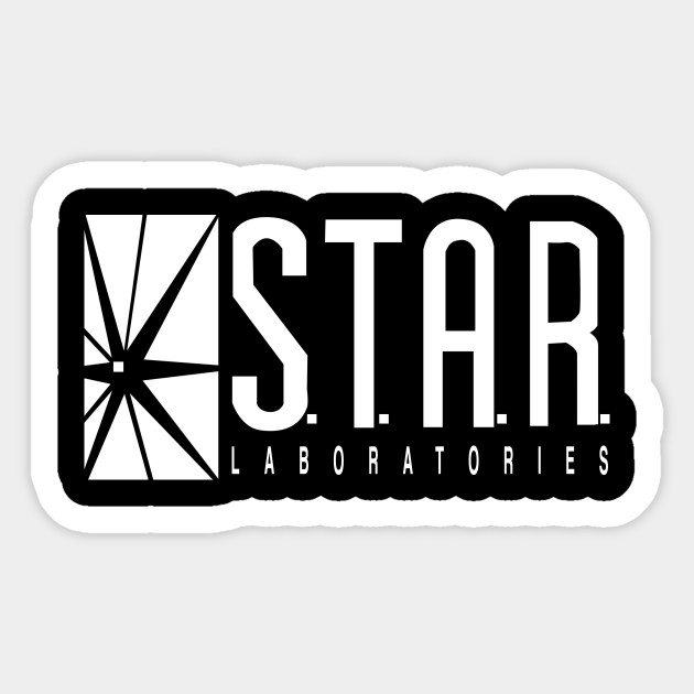 Star lab logo 2 sticker