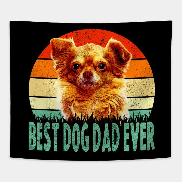 f1a335f8d Vintage Best Dog Dad Ever T-shirt Dog Father Gift for Men Tapestry