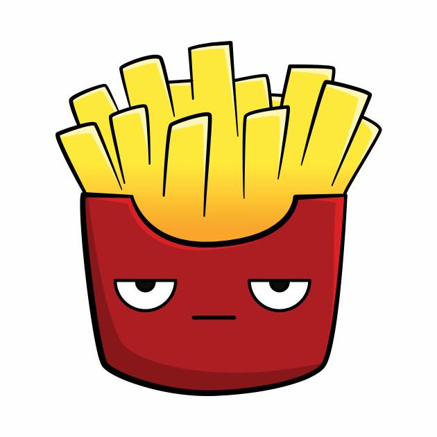 cute kawaii cartoon fries kawaii baseball tshirt