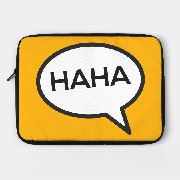 HAHA Laughing Speech Bubble