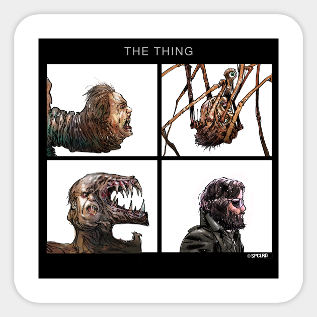 The Thing The Thing Carpenter Sticker Teepublic