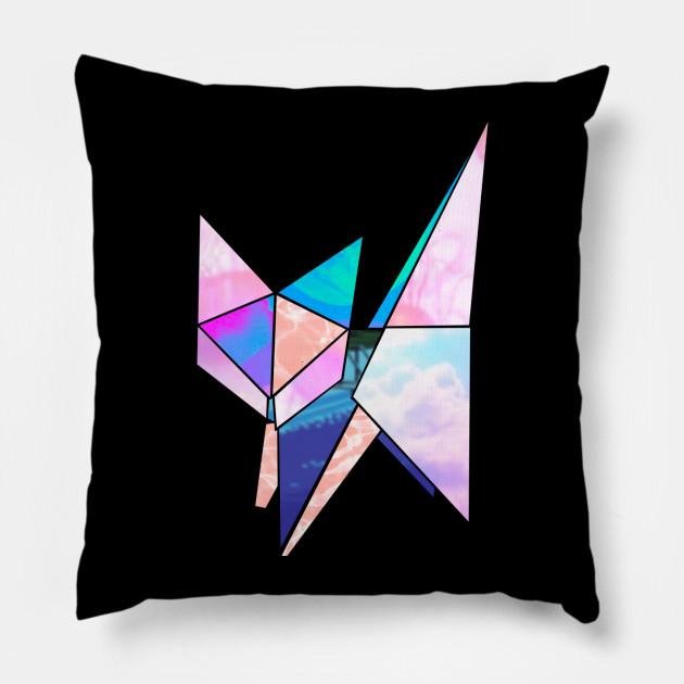 Origami Vaporwave Cat mk.2