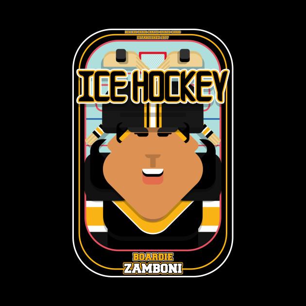 Ice Hockey Black and Yellow - Boardie Zamboni - Indie version