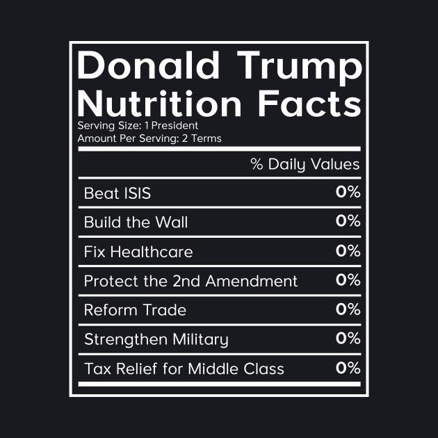 Donald Trump Nutrition Facts (0%) T-Shirt