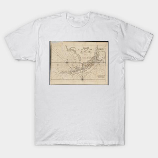 Florida Keys Map.Vintage Map Of The Florida Keys 1771 Florida Keys Map T Shirt