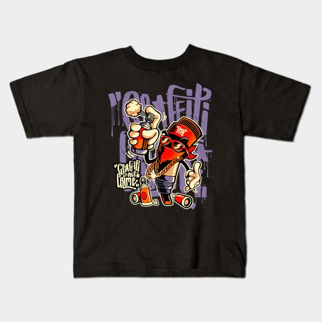 d4238c8b Graffiti Is Not Crime Graffiti Skateboard Urban Skater Gift Kids T-Shirt