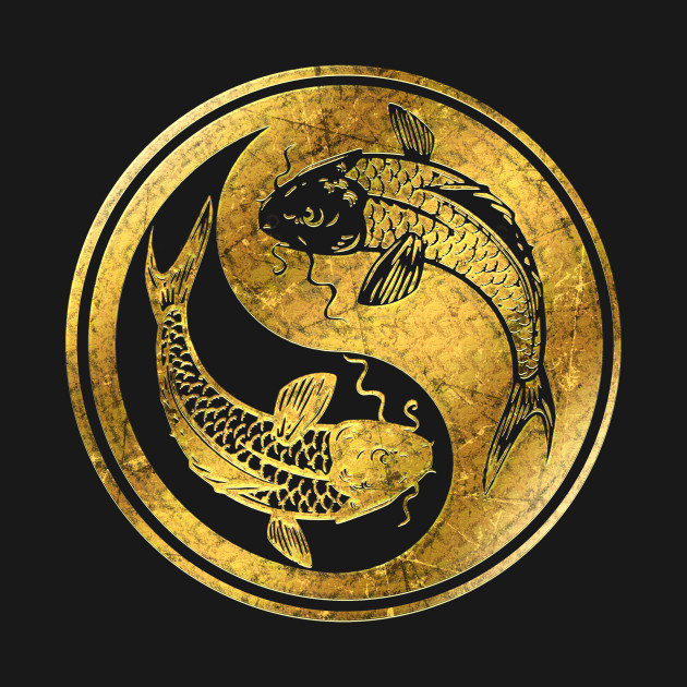 Yin Yang Golden Koi