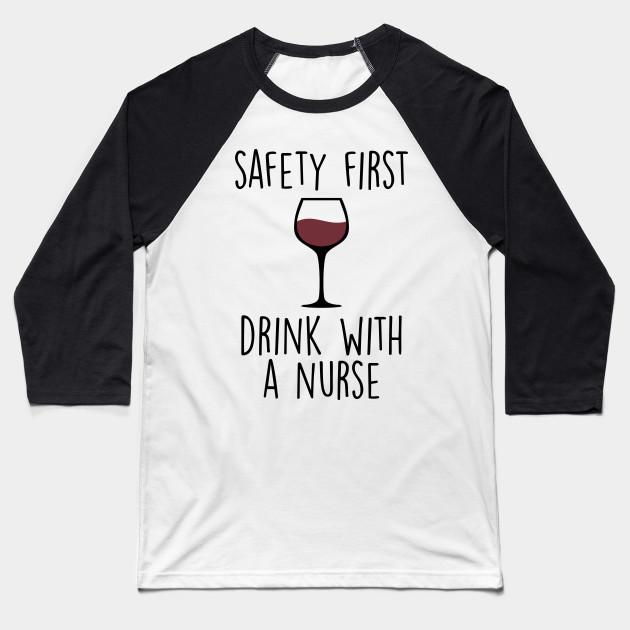 6bbeb44354 Funny Nurse Shirt Nurse Gift Idea Nursing TShirt Nurse Graduation Gift For  Her RN T Shirt Wine Lover Gift Baseball T-Shirt