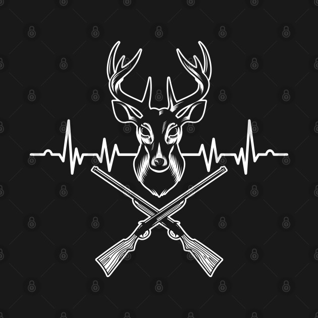 Entrap Forest Hunters Huntress Shooting Jungle Hunting Heartbeat Deer Gift