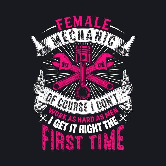 Female Mechanic Girl Car Repair Funny
